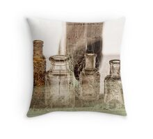old bottles Throw Pillow