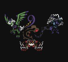 Tribal Therian Trio by Kaegro