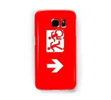 Accessible Means of Egress Icon and Running Man Emergency Exit Sign, Left Hand Down Arrow Samsung Galaxy Case/Skin