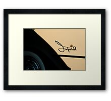 5057_Imperial Logo with Crown and White Walls Framed Print