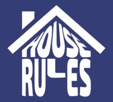 House Rules [Beer Pong Shirt] White Ink by FreshThreadShop