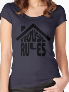 House Rules [Beer Pong Shirt] Women's Fitted Scoop T-Shirt