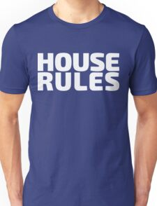 House Rules [Beer Pong Shirt] White Ink Unisex T-Shirt