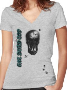 One Dead Cop W/ Bullet Holes Women's Fitted V-Neck T-Shirt
