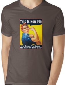 This Is How Far Mens V-Neck T-Shirt