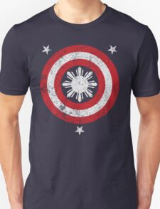 Captain Philippines! (Grunge White Sun) T-Shirt