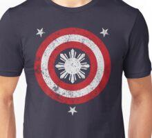 Captain Philippines! (Grunge White Sun) Unisex T-Shirt