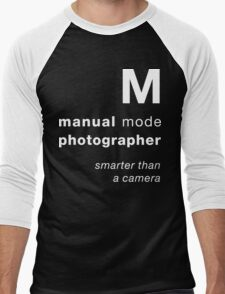 M = smarter than a camera Men's Baseball ¾ T-Shirt