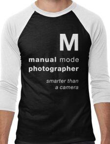 M = smarter than a camera Men's Baseball ¾ T-Shirt