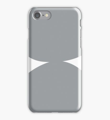 Stacked circles in Gray iPhone Case/Skin
