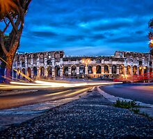City Lights - Colosseum at night by Juvani Photo | Digital Art