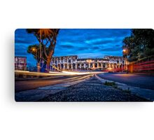 City Lights - Colosseum at night Canvas Print