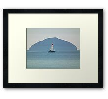 yacht on the waters Framed Print