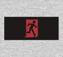 Running Man Emergency Exit Sign, Right Hand Kids Tee