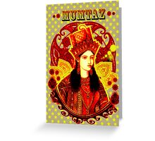 Mumtaz Mahal Pop Art Greeting Card