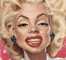 Marilyn Monroe Caricature Dead Series by taggink