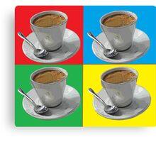 coffee squared Canvas Print