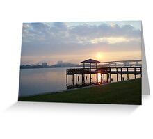 Pier on Halifax River Greeting Card
