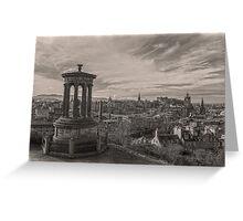 Edinburgh Skyline Mono 2 Greeting Card