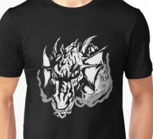 Angry Dragon (black and white) Unisex T-Shirt