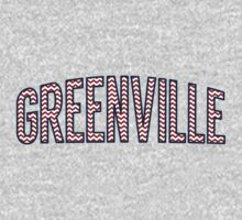 Greenville Chevron Red White Blue Kids Tee