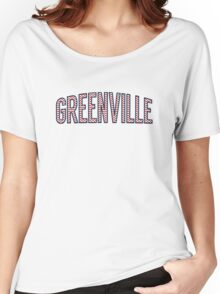 Greenville Chevron Red White Blue Women's Relaxed Fit T-Shirt