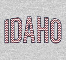 Idaho Chevron Red White Blue Kids Tee