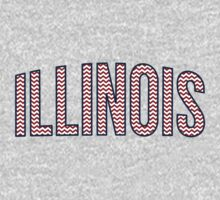 Illinois Chevron Red White Blue Baby Tee