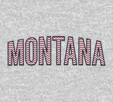 Montana Chevron Red White Blue One Piece - Short Sleeve
