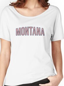 Montana Chevron Red White Blue Women's Relaxed Fit T-Shirt