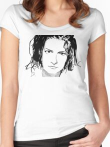 Mia Zapata Women's Fitted Scoop T-Shirt