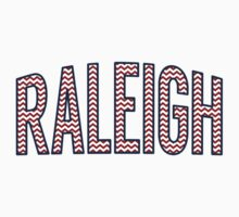 Raleigh Chevron Red White Blue by Location Tees