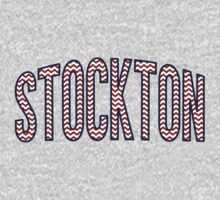 Stockton Chevron Red White Blue Kids Tee