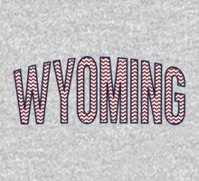 Wyoming Chevron Red White Blue Kids Tee