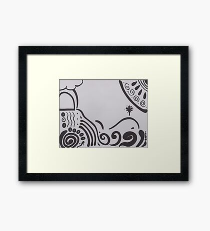 Journeying further from shore Framed Print