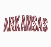 Arkansas Red Chevron by Location Tees