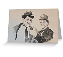 Laurel&Hardy Greeting Card