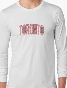 Toronto Red Chevron Long Sleeve T-Shirt