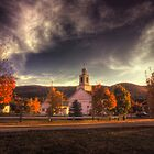Dusk on the Town Common by Wayne King