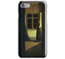 CASPAR DAVID FRIEDRICH (-  ), THE WOMAN WITH THE CANDLESTICK iPhone Case/Skin