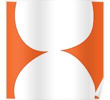 Stacked circles in orange Poster