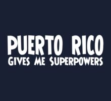 Puerto Rico Superpowers One Piece - Short Sleeve