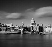 St Paul's Cathedral and Millenium Bridge by Ursula Rodgers