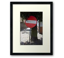 Sign Framed Print