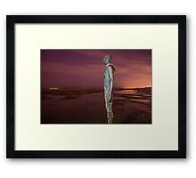 Iron Man Purple Sky Framed Print