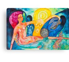 The morning, an allegory Canvas Print