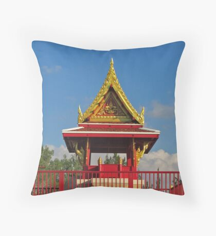 To Be and NOT really to Be at the Pagoda Throw Pillow