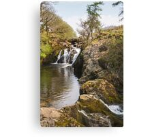 Waterfall in the Yorkshire dales Canvas Print