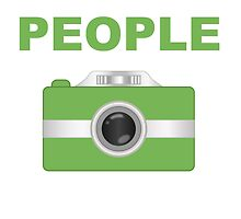 I Shoot People Green Camera by kwg2200