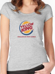 Yellow King Grilled Rust Logo Women's Fitted Scoop T-Shirt